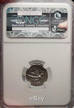 Jules Cesar Authentique Argent Ancien Ngc Certifié Ch Xf Coin Trinacrus Roman