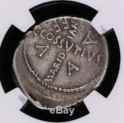 Jules César Denarius 44 Av. Jc Ancien Empire Romain Coin Maridianus Cuciforme Cr