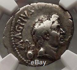 Jules César Ennemi Pompée Le Grand Fils Sextus Ngc Vf Pièce De Monnaie Romaine Argent I57693