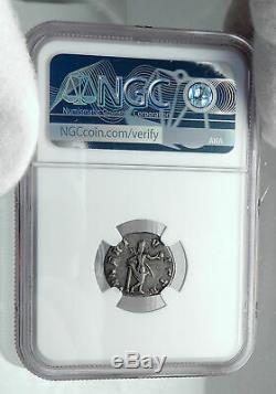 Julia Domna Authentique Antique Argent Monnaie Venus Déesse Romaine De L'amour Ngc I81173