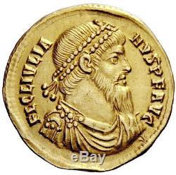Julian II 361 Ad Authentique Romain Antique Pedigrees Gold Oblique Monnaie Ngc Ch Xf