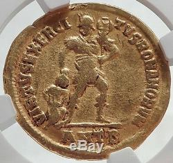 Julian II L'or Ancien Apostat Philosophe 361ad Romain Solidus Coin Ngc Vf
