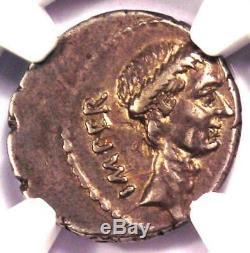 Julius Caesar Ar Denarius Coin -44 (m Mettius, Vénus, La Victoire) Xf Choix Ngc