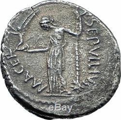 Julius Caesar Portrait À Vie 44bc Rome, Monnaie Romaine En Argent Antique Ngc I77659