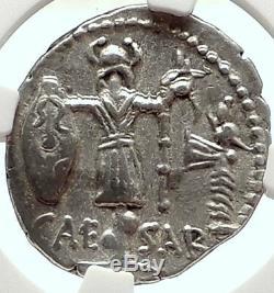 Julius Caesar Vs Vercingetorix Trophee Argent Antique 48 Monnaies Romaines Ngc I68286