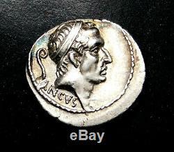 L. Marcius Philippus. Denier 56 Av. République Romaine Silver Coin