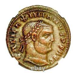 L'empereur Romain Galerius Coin Ngc Certifié Xf, Avec Histoire, Certificat