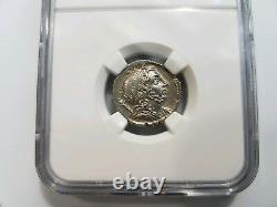 Lentulus République Romaine 75 Avant Jc Ngc Au Denier Genius Sceptre Globe Ancienne Pièce De Monnaie