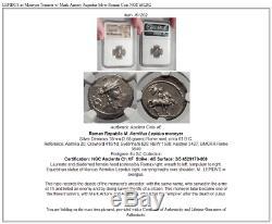 Lépide Comme Moneyer Triumvir Avec Marc Antoine Auguste Romain Silver Coin Ngc I61202