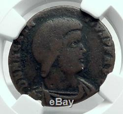 Magnentius 353ad Authentique Monnaie Romaine Antique Monogramme Chi-rho Christ Ngc I78514