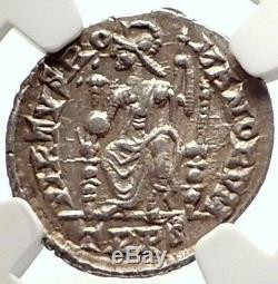Magnus Maximus Authentique Ancien 384ad Argent Siliqua Romaine Monnaie Ngc I69592