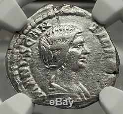 Manlia Scantilla Épouse De Didius Julianus 193ad Monnaie Romaine Argent Ngc Vf I59096