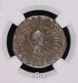 Marc Anthony & Octavia 39 Bc Cistophorus Ancien Empire Romain Serpents Monnaies Wre