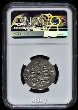 Marc Antony & Octavia 39 Bc Ephèse Authentique Argent Romaine Ancienne Pièce De Monnaie Ngc Chvf