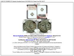 Marcus Ambibulus Auguste Jérusalem Antique 10ad Biblique Romaine Monnaie Ngc I68137