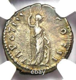 Marcus Aurèle Ar Denarius Silver Roman Coin 161-80 Ad. Certifié Ngc Choice Vf