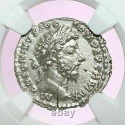 Marcus Aurelius Ngc Ms Roman Coins, Ad 161-180. L'ar Denarius. A777