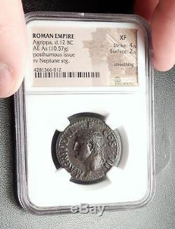 Marcus Vipsanius Agrippa Augustus Général Monnaie Romaine Ancienne Caligula Ngc I66636