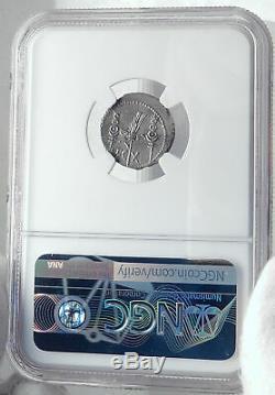 Mark Antony Cléopâtre Amant 32bc Ancienne Pièce De Monnaie Romaine Argent Legion X Ngc I81775