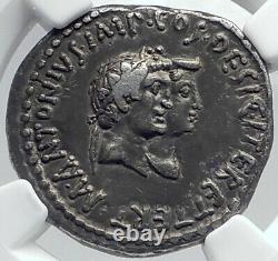 Mark Antony & Octavia Sœur D'auguste Argent Romain Tetradrachm Coin Ngc I81779