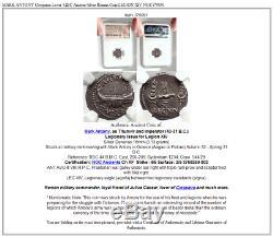 Mark Antony Pièce De Monnaie Romaine En Argent Antique 32bc Pour Amant De Cléopâtre Legion XIV Ngc I75091
