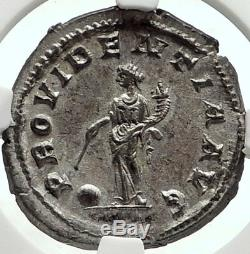 Maximinus I Thrax 236ad Rome Romaine Authentique Argent Ancienne Pièce De Monnaie Ngc Ms I68401