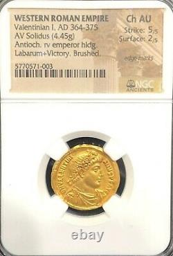 Mbac Western Roman Empire, Valentinian I, Ad 364-375, Ancienne Pièce D'or