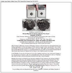 Metellus Scipion Ennemi De Jules César 47bc Antique Romain Silver Coin Ngc I60978