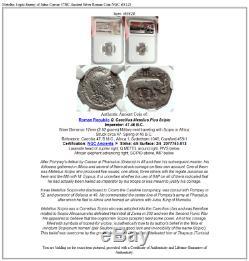 Metellus Scipion Ennemi De Jules César 47bc Antique Romain Silver Coin Ngc I68128