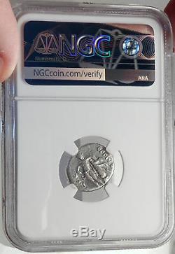 Metellus Scipion Ennemi De Jules César 47bc Antique Romain Silver Coin Ngc I68751