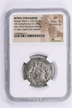 Mysia, Pergamum, Roman Rule, Ar Cistophorus C. 133-67 Bc Ngc Xf Witter Coin