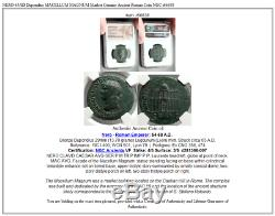 Nero 65ad Dupondius Macellum Magnum Véritable Marché Ancienne Pièce De Monnaie Romaine Ngc I66638