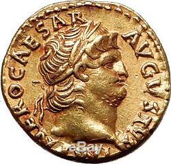 Nero 67ad Rome 1910 Pedigree Authentique Ancien Romain Or Pièce De Monnaie Aureus Ngc Au