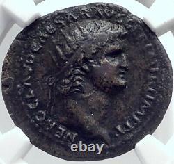 Nero Authentique Ancient 64ad Rome Véritable Original Roman Coin Genius Ngc I81819