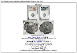 Nero Authentique Ancient Rome 64ad Véritable Denier D'argent Roman Coin Ngc I80516
