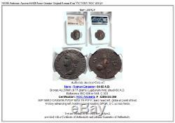 Nero Authentique Ancient Rome 66ad Véritable Romaine Originale Coin Victoire Ngc I80124