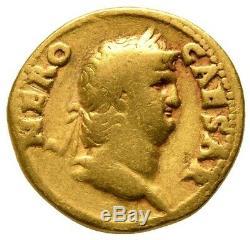 Nero (ad 54-68) Or Av Roman Pièce Aureus Colossus 46 Ngc Certifié Ric