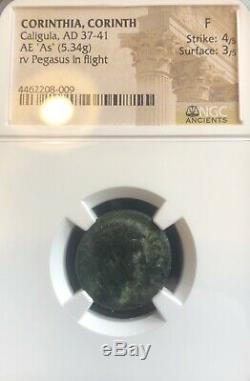 Ngc Ancienne Pièce De Monnaie Ae Romain Caligula (37-41) / Pegasus + Prime Reverseraref