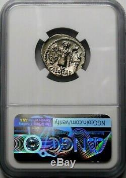 Ngc Au 4 / 5-2 / 5 Julius Caesar 48-47 Bc Exquis Rare Denier. Roman Silver Coin