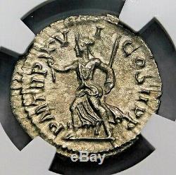 Ngc Au. Severus Alexander. Denier Exceptionnelle. Ancien Romain Silver Coin