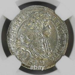 Ngc Autriche 1690 6k Kreuzer Vienne Leopold I Holy Roman Empire Pièce D'argent Unc