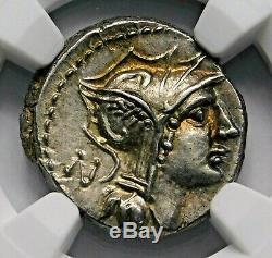 Ngc Ch Au 3 / 5-45 D. Silanus Superbe Denier. République Romaine Silver Coin