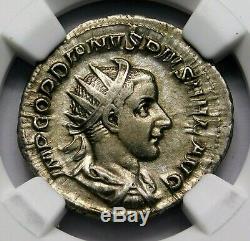 Ngc Ch Vf. Gordien Iii. Double-denier Superbe. Rome Antique Pièce D'argent