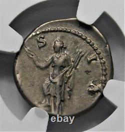 Ngc Ch Vf. Hadrien (117-138 A.p.) Superbe Denarius. Pièce Antique Romaine D'argent