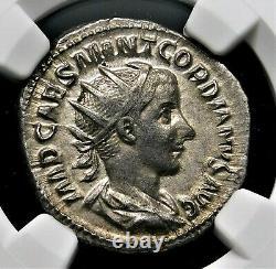 Ngc Ch Xf. Gordian Iii. Superbe Double-denarius. Pièce D'argent Romaine Ancienne