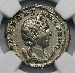 Ngc Ch Xf. Herennia Etruscilla Superbe Double-denarius Antique Pièce D'argent Romaine