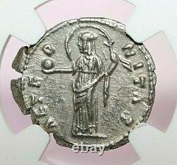 Ngc Ch Xf Roman Coins Faustina Sr. No. 138-140/1. L'ar Denarius. Max/036