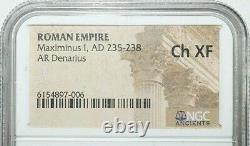 Ngc Ch Xf Roman Coins Maximinus I, J.-c. 235-238. L'ar Denarius. A747
