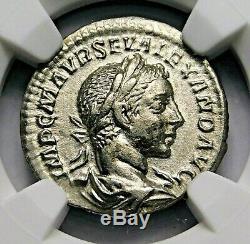 Ngc Ch Xf. Severus Alexander. Denier Exceptionnelle. Rome Antique Pièce D'argent