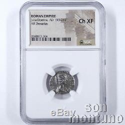 Ngc Choix Ch-xf Julia Domna Ancien Empire Romain Denier D'argent Monnaie 193-217ad